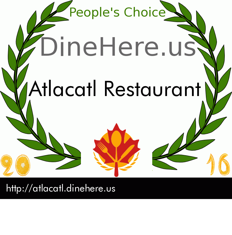 Atlacatl Restaurant DineHere.us 2016 Award Winner